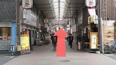 佐竹商店街を直進